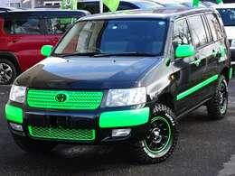 【S,CARS×Brocade Bee】当店と板金屋さんのコラボカスタム☆ ご覧いただき有難うございます。トヨタ サクシードワゴンTX G 4WD!!2インチリフトアップ マッドタイヤ!!