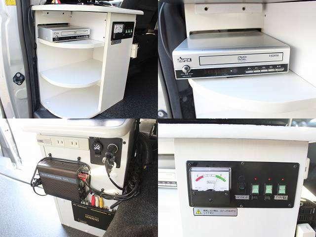 ☆19型テレビ DVDプレーヤー インバーター400W バッテリー電圧計☆