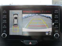 パノラミックビューモニター♪車両の前後左右に搭載した4つのカメラの映像を合成し、車を真上から見ているような映像を表示♪