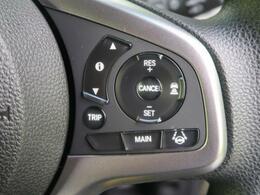 アクセルペダルを踏まずに定速走行が可能。加速・減速の少ない高速道路などでの運転をより快適にします。