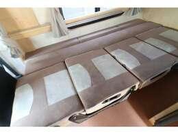 ダイネットベッドは181×104で大人2名が就寝可能です!