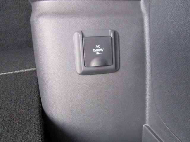 AC1500W電源。PHEVの自慢の一つです。災害時やアウトドアで活躍しますよ。