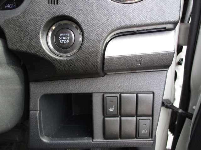 プッシュスタートボタン 格納式ドリンクホルダー シートヒータースイッチ
