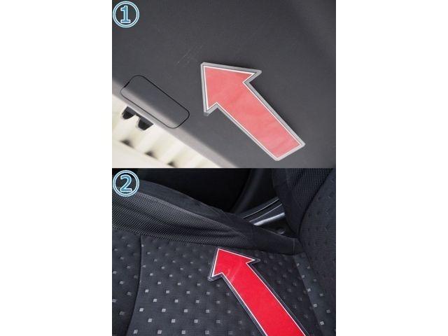 1、リアゲートキズ 2、シートへたり  ※掲載写真以外にも、年式や走行距離に応じた微細な傷がある場合がございます。予めご了承ください。