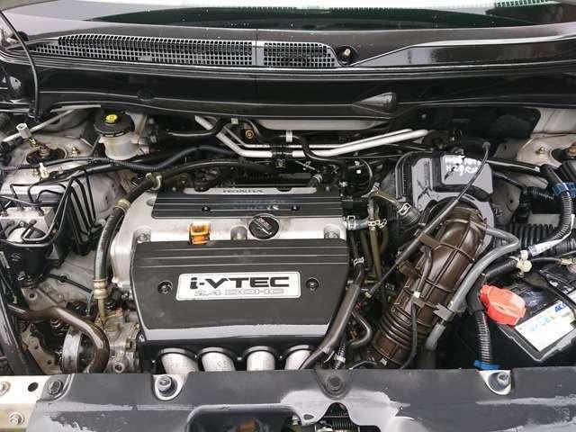 タイミングチェーン式のエンジンです◎