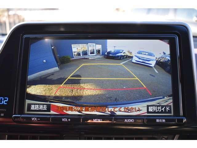 バックカメラが装備されていますので車庫入れ等、安心して運転できます。