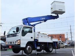 いすゞ エルフ 高所作業車 AT-100TT・FRPバケット低圧電工用・9.9M