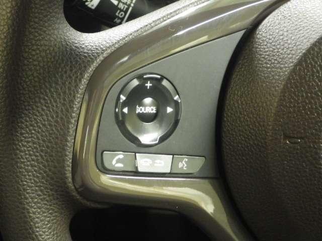 ステアリング左手にはオーディオスイッチがあります。