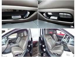 運転席、助手席は快適な電動パワーシートを搭載!