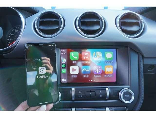 アップルカープレイ装備車なので、お持ちのスマートフォンをおつなぎいただくと、モニターをスマートフォンと同じに使用できます!