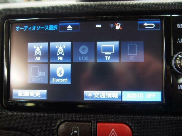 純正SDナビ・フルセグTV・バックカメラ・ブルートゥース対応(NSZT-W66T)