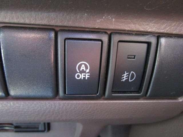 アイドリングストップOFFにするボタンがあるので、状況に応じて切り替えができます。