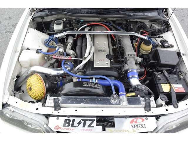 新品ワークエモーションKIWAMI19インチアルミ 新品タイヤ COBRAフルタップ車高調 社外マフラー CUSCOタワーバー