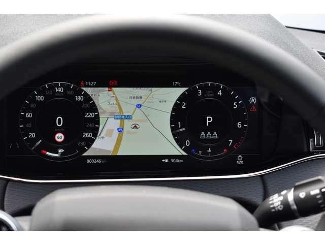12.3インチの高解像度インタラクティブドライバーディスプレイ。運転を妨げることなく、さまざまな情報を表示。走行情報、エンターテインメント、アクティブセーフティデータなどを鮮明な画像で確認できます。