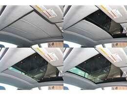 ガラスルーフをインストール。室内空間を開放的に感じるだけでなく、空を感じながらのドライブをお楽しみ頂けます。