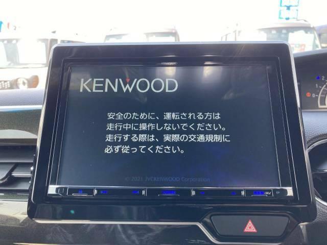 【KENWOODナビ】KENWOODの8インチの大画面ナビです♪軽なのにこんなに大きいナビがつくんです♪