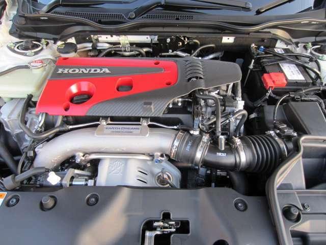 カタログ値320馬力を誇るVTECターボエンジン!高出力・ハイレスポンスをご体感ください。