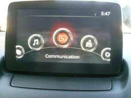 マツダコネクトナビゲーション搭載。タッチパネルと手元のコマンダーの両方で操作が可能なので、入力や操作も便利ですね