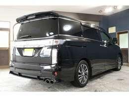 H28 エルグランド 4WD ライダーブラックライン ナビ アラウンドビューカメラ フリップダウンモニター 黒革シート シートヒーター クルーズコントロール MOD 電動スライドドア 1オーナー