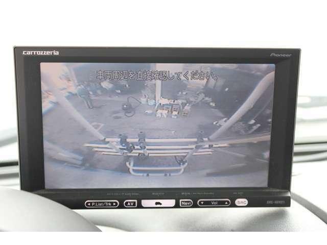大型な車両には必須のバックカメラも装備されております!