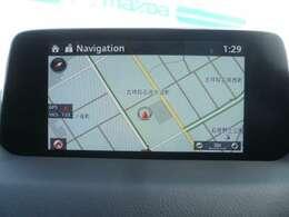 マツダコネクトナビゲーション搭載。手元のコマンダーで操作が可能なので、入力や操作も便利ですね!