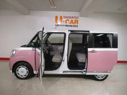 R2年式 可愛いピンクのツートンのムーヴキャンバス♪走行11km 全方位カメラ 両側電動スライドドア