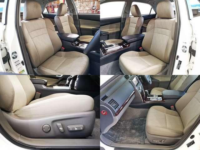 運転席、助手席パワーシートも高級セダンの装備です 、乗る人をちょっぴりリッチな気分にさせる贅沢な装備ですね