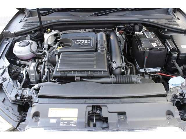 122馬力(カタログ値)1.4L TFSIエンジン。