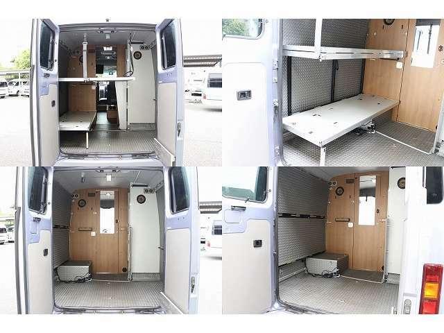 リヤルーム内トランポ仕様 二段ベッド付サイズ下165×60上170×120