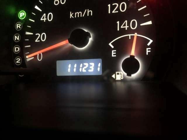 実走行111,231KMです。タイミングチェーンなので安心してお乗り頂けます!!