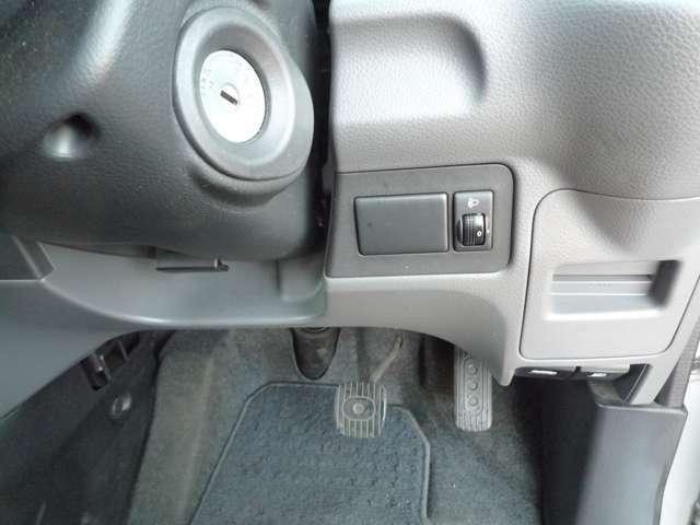 ヘッドライトのレベライザー付きでヘッドライトの高さを調整可能です