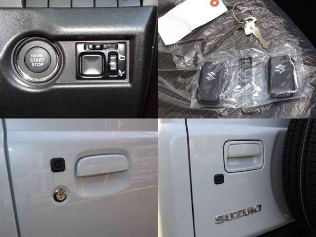 ■キーレスプッシュスタートシステム(エンジンスイッチ、携帯リモコン、リクエストスイッチ フロントドア、バックドア)