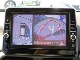 迫力の9インチ大画面!純正メモリーナビ☆フルセグTV・DVD再生・音楽録音の充実機能(MM320D-L)♪発進時に周囲を確認したり、すれ違い時に、助手席側下方も確認できるアラウンドモニター付で安心!