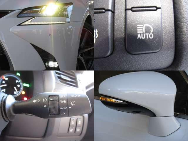 暗い夜道でも視界良好な、AUTOハイビームAFS付LEDヘッドライト/LEDフォグ☆