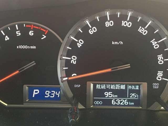 走行距離は僅か6000km