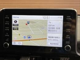 【メーカーナビ】です。地デジTV、Bluetoothなど充実の装備です。