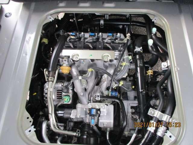 綺麗で良好なエンジン