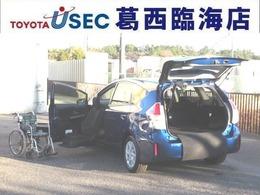 トヨタ プリウスα 1.8 S ウェルキャブ 助手席リフトアップシート車 Bタイプ TSS スマートキー 5人乗 サイドSRS無し