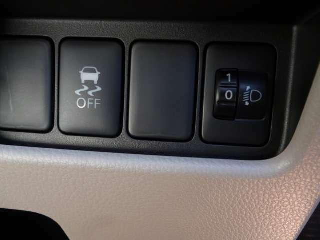 ヘッドライトレべライザー付き。横滑り防止もついてます!