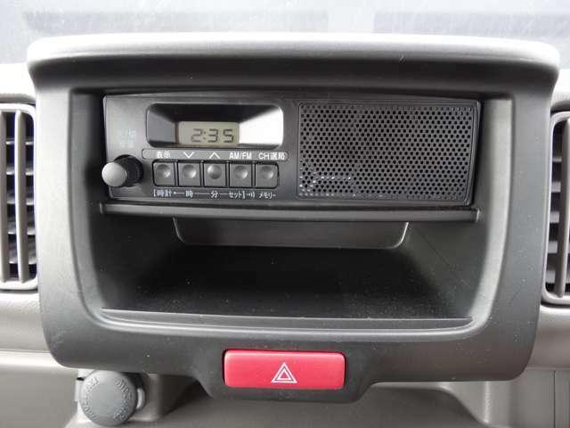 オーディオが装備されています。お好きなカーナビなど7インチナビサイズに対応しています。