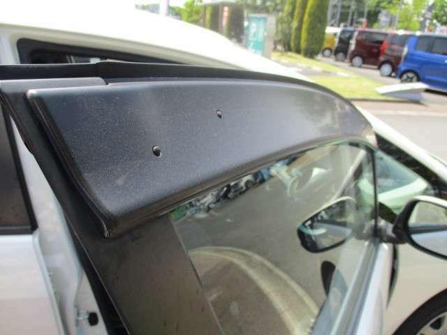 ドアバイザーで急な雨でも車内の換気できます!