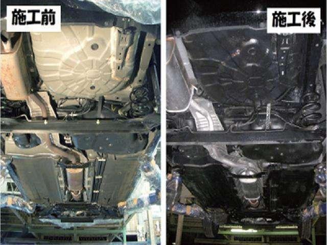 Bプラン画像:錆対策に安心のシャーシブラック!下廻りを洗車してから綺麗にします!