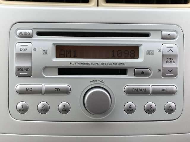 ☆純正オーディオデッキ搭載!CD,AM/FMを迫力のある高音質サウンドで聞くことができます。