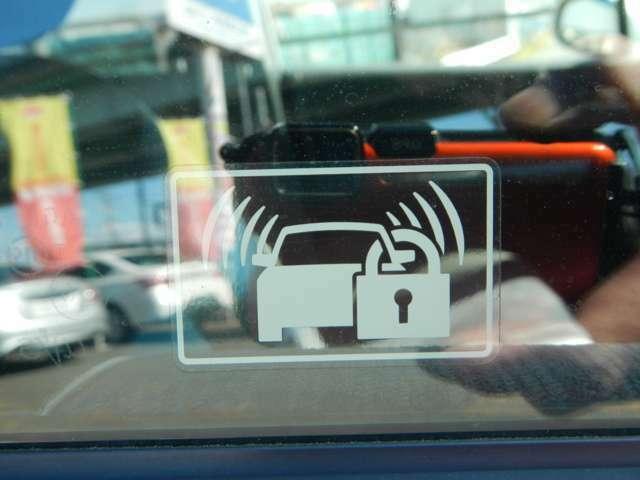 大切な愛車を盗難や悪戯から守るイモビライザーを装備です。