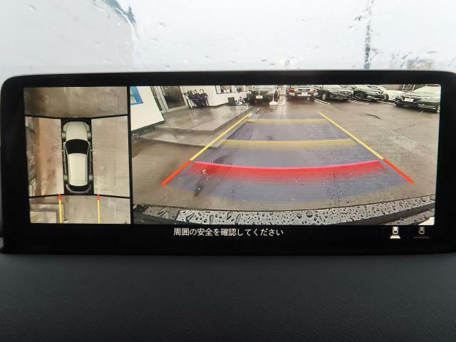 全方位周囲カメラが装備されています♪上から見下ろしたような映像が映し出されます♪苦手な縦列駐車も安心してできますね♪