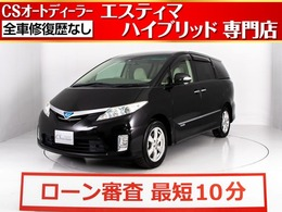 トヨタ エスティマハイブリッド 2.4 X 4WD 両自ドア/後席モニター/HDDナビ/クルーズC