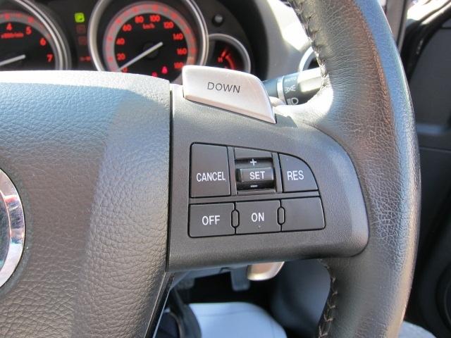 ハンドルにはオートクルーズスイッチ付き!スイッチ一つで簡単操作!高速走行での運転が楽になります!