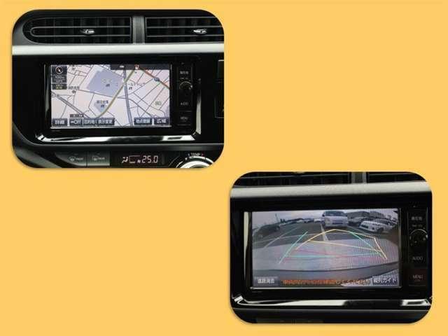 W64Tトヨタ純正7インチTコネクトナビ!TVはフルセグ!ブルートゥース、CD、DVD、SDがお使いいただけます!バックモニターは後退時の安全確認に役立ちます!