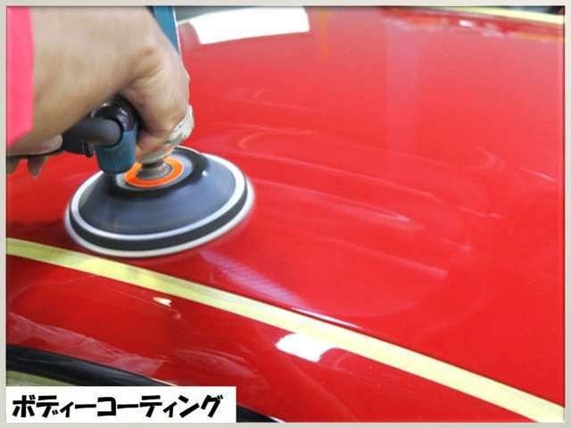 Aプラン画像:洗車→鉄粉除去→磨き艶出し→ポリマーコーティング ヘッドライト磨き→ポリマーコーティング
