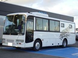 いすゞ エルガミオ 事務室車 中型バス 13人定員 シンク トイレ TV ソファ リアヒーター